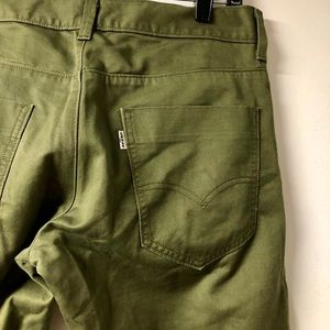 LEVI'S 511 Olive Green Straight Jeans